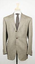New. BRIONI Nomentano Khaki Brown Wool 3/2 Button Suit Size 56/46 R $6595