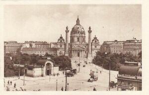 Wien, Karlsplatz mit Karlskirche ngl F3516