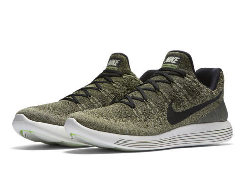fa8b5bc23ef Nike Lunarepic Low Flyknit 2 Men Running Train Shoe Rough Green Black  863779 300 for sale online
