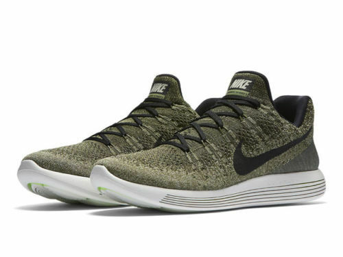 Nike Lunarepic Low Flyknit 2 Men Running Train Shoe Rough Green Black  863779 300 for sale online  5911a6ea9880