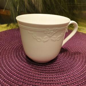 V-amp-B-FIORI-WEISS-Kaffeetasse-ohne-Untere-VILLEROY-amp-BOCH-mehr