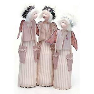 "Cloth Art Doll Pattern /""Dot the Pocket Angel/"" By Jill Maas"