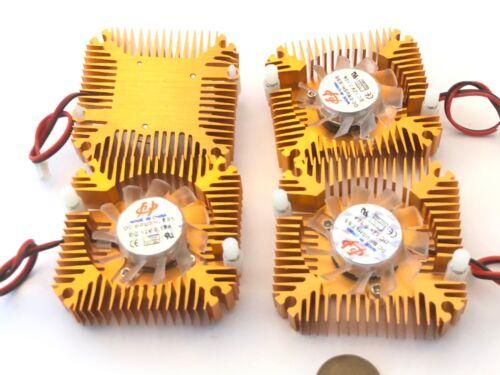 4 Pieces copper 12v 55mm 2PIN Aluminum Cooling Fan Heatsink Cooler VGA CPU A8