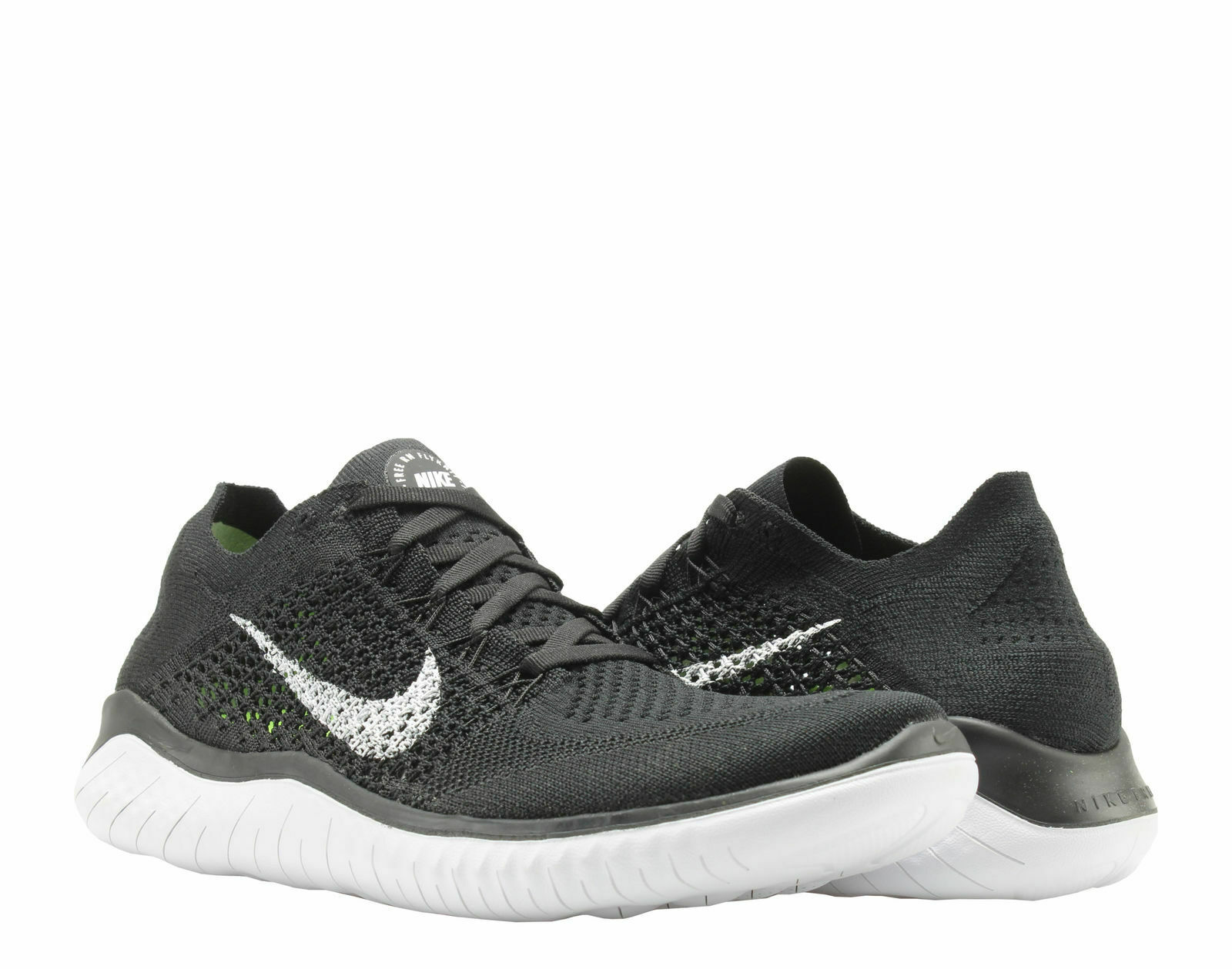 the latest e8fdc 265f4 Nike Free RN Flyknit 2018 Black/White Men's Running Shoes 942838-001 Pick A  Size