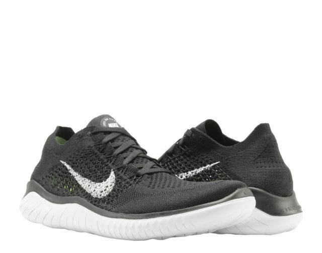 the latest 3bfcb 4acba Nike Free RN Flyknit 2018 Black/White Men's Running Shoes 942838-001 Pick A  Size