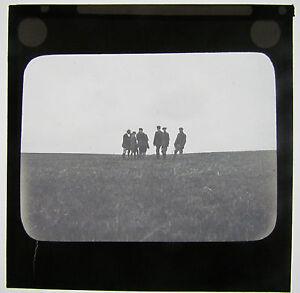 Magic lantern slide MEN AT A SHOOT OR HUNT C1900 - Cornwall, United Kingdom - Magic lantern slide MEN AT A SHOOT OR HUNT C1900 - Cornwall, United Kingdom