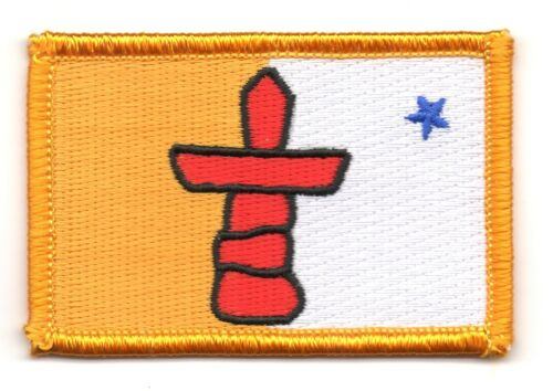 Ecusson Brodé PATCH drapeau Nunavut CANADA FLAG PATCH EMBROIDERED