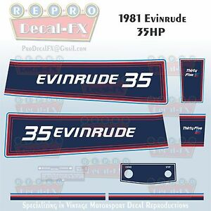 Image Is Loading 1981 Evinrude 35 HP Outboard Reproduction 9 Piece
