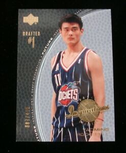 222cda1233cfc Details about 2001-02 Upper Deck Inspirations Yao Ming Houston Rockets LE  Rookie 87/499 NM-MT