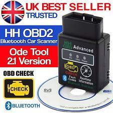 ELM327 V2.1 OBD2 II Bluetooth auto scanner Android COPPIA auto strumento di scansione DTC UK