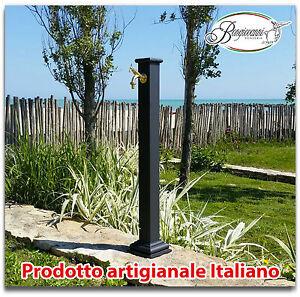 Fontana a colonna in ghisa e acciaio per esterno casa giardino con rubinetto ebay - Fontana a colonna da giardino ...