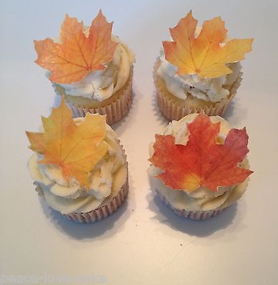 Edible Fall Leaf Cupcake Toppers