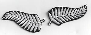 2 NEW ZEALAND SILVER FERN IRONON PATCHES BUY 2 sets GET another set FREE