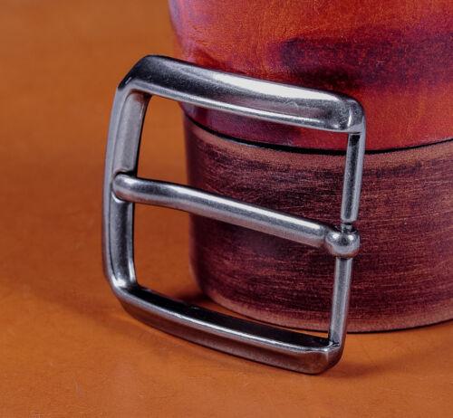 40mm Prong Pin Belt Buckle Belt Fastener Antique Silver Leather Craft Hardware