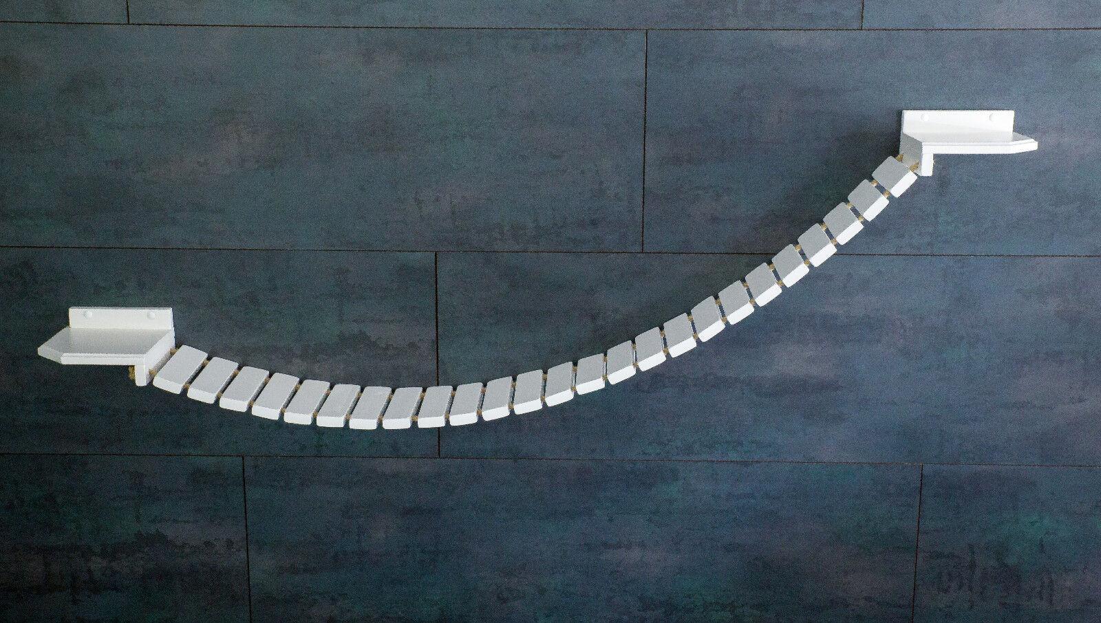 Gatti paretemuro si arrampi muro Park! ponte sospeso 190x 20 cm, Bianco 2wg