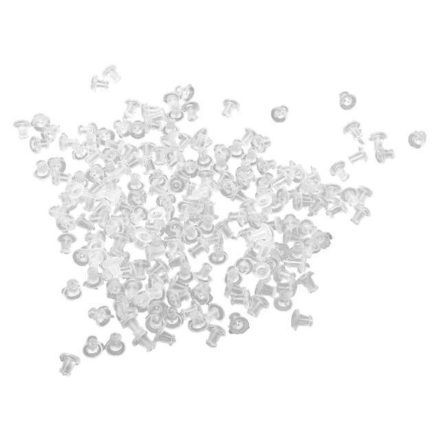 200 Pcs Plastic Earrings Closure 5 mm R8L3