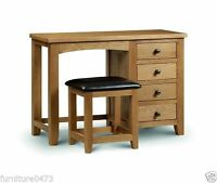 Solid Oak 4 Drawer Dressing Table W107cm X D44cm X H75cm Marvel