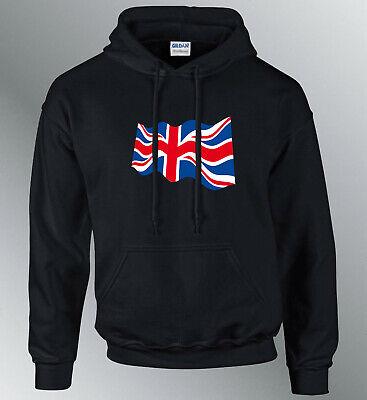 Dettagli su Felpa Cappuccio Uomo Cappuccio Felpa Bandiera Inghilterra Union Jack Euro