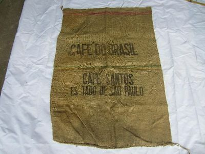 Kaffeesack Ehrlichkeit Sack Jutesack Alte Werbung Cafe Brasil Sao Paulo Deko Nr.17