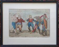 After ISAAC CRUIKSHANK Olympic Games Or John Bull NAPOLEON Early Ink Watercolor