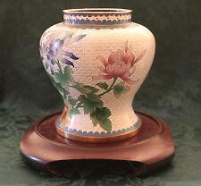 Zi Jin Cheng Cloisonne Chrysanthmum Vase