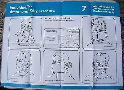 2019 Neuer Stil Plakat Ca. A 1, Um 1986, Zivilverteidigung 7, Einfache Mittel Des Atemschutzes Schmerzen Haben