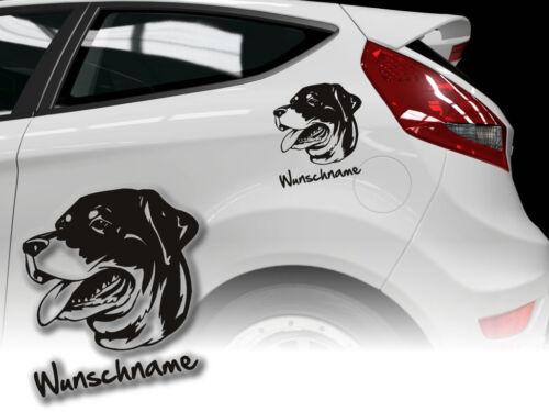 Pegatinas rottweiler h362 perros pegatinas deseo nombre auto