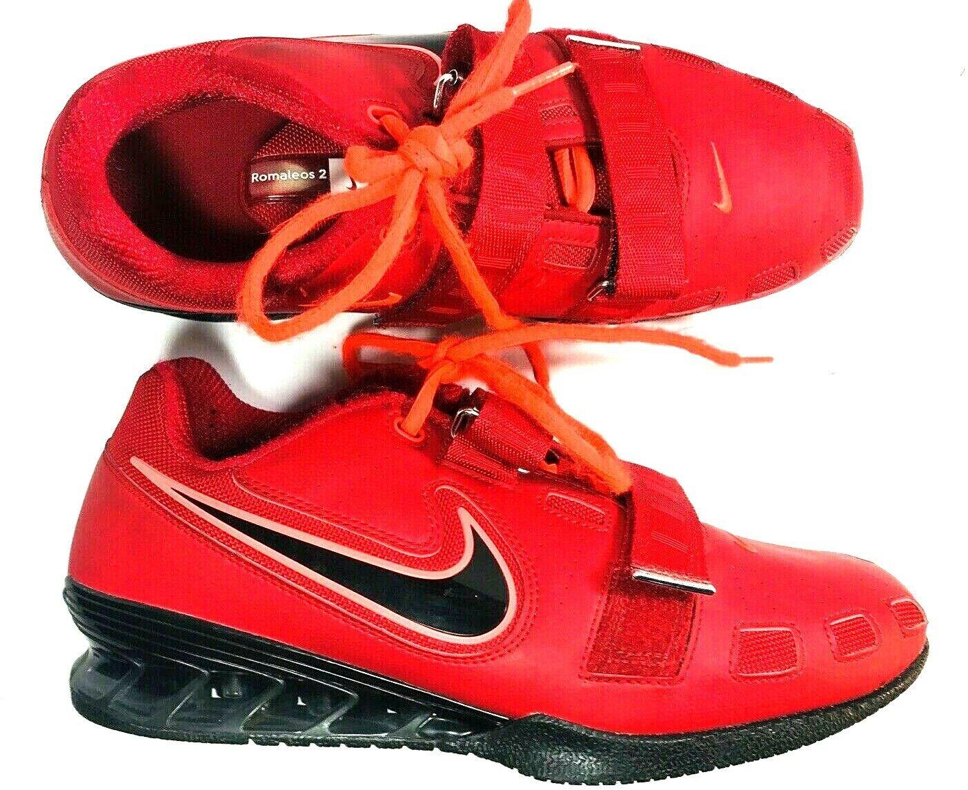 Nike Romaleos II 2 Mens Varsity Red Black Weightlifting shoes Sz 11 476927-670