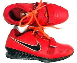 1820a21f6dbd Nike Romaleos II 2 Mens Varsity Red Black Weightlifting Shoes Sz 11 ...