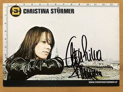 Christina Stürmer AK In dieser Stadt Autogrammkarte original signiert #1