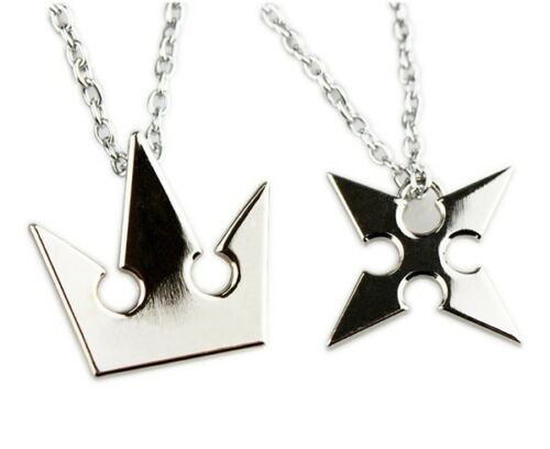 Set of 2 kingdom hearts sora crown roxas cross metal necklace set of 2 kingdom hearts sora crown roxas cross metal necklace keyblade pandent aloadofball Gallery