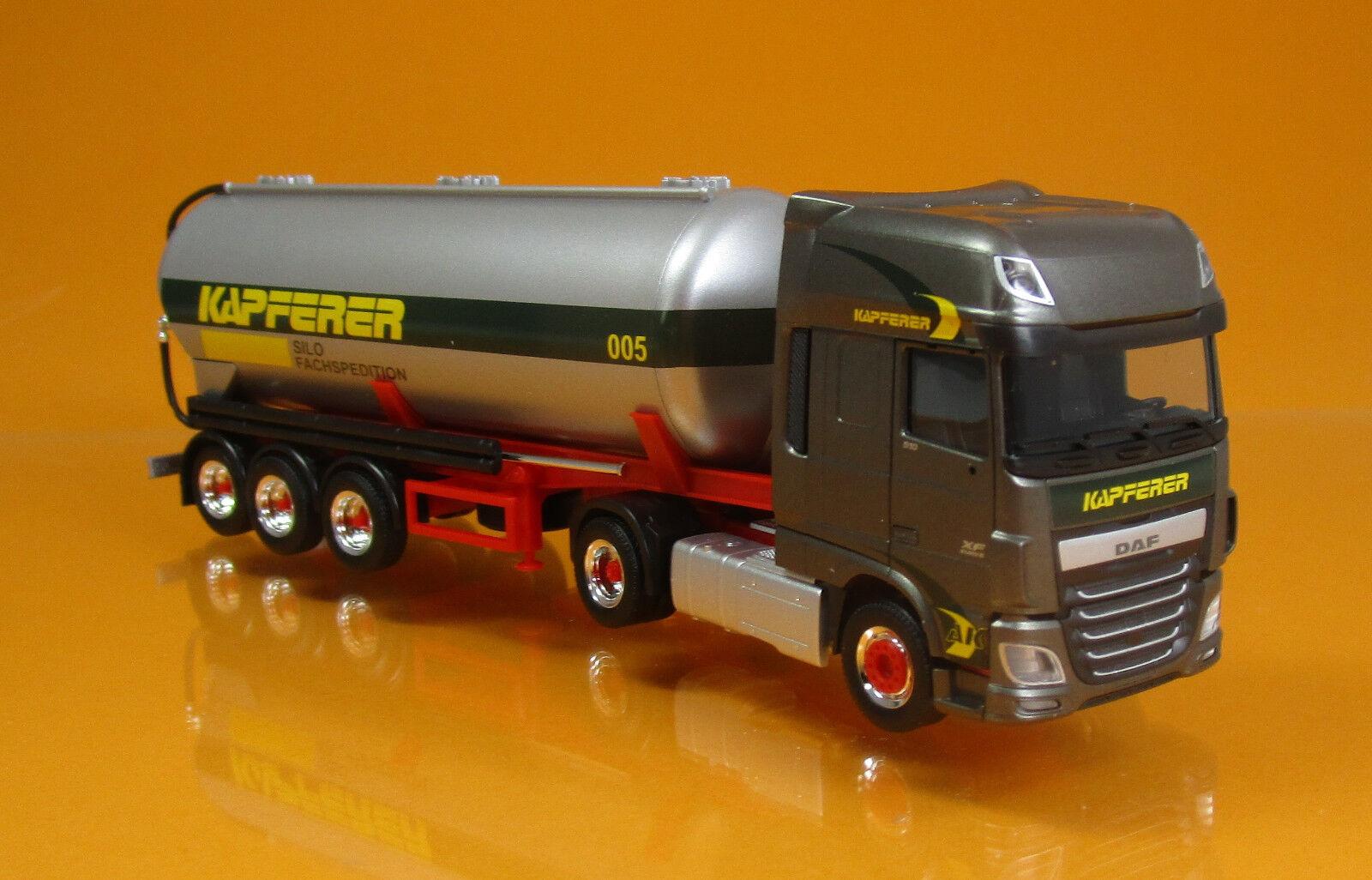 Herpa 308076 DAF XF SSC Silo Semi-remorque camion Anton Kapferer Scale 1 87 Nouveau neuf dans sa boîte