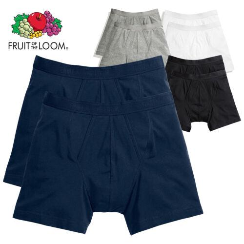 Fruit of the loom 2 X Men/'s Classic Boxer Trunks Sous-Vêtements Long Short Pack Set