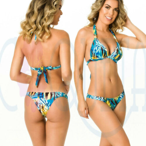 Coqueta Swimwear s Brazilian Bikini SET Bottom Teeny Swimwear Reef HALTER TOP