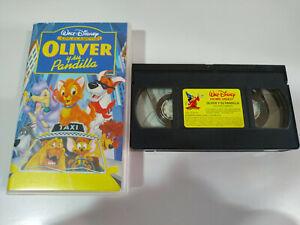 Oliver-y-su-Pandilla-Los-Clasicos-de-Walt-Disney-VHS-Cinta-Tape-Espanol