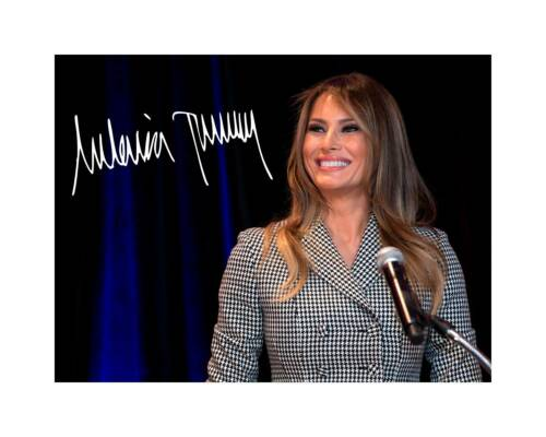 Melania Trump 8x10 Signed Photo Print US First Lady Autograph Donald President