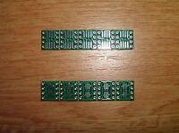 10x SMD Adapterplatine SO8 (1,27mm) / SOP8 (0,65mm) auf DIP8 FR4