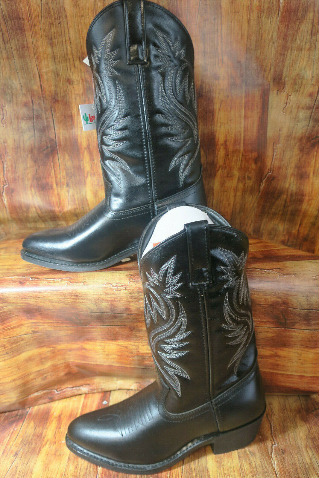 Laredo 4210 Mens London Distressed Western Cowboy Boots Leather R Toe 10.5 1288