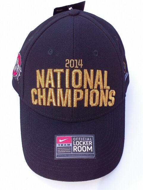 NIKE OHIO STATE BUCKEYES FOOTBALL 2014 NATIONAL CHAMPIONS Adjustable Hat Cap  NWT 7a8190e68c7