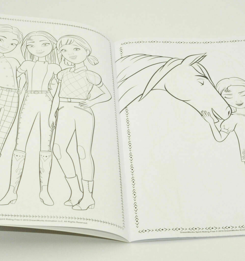 1x A4 Spirit Riding Free Colouring Book Fun Cartoons Travel Coloring 36 Page Creative Toys Activities Toys Games