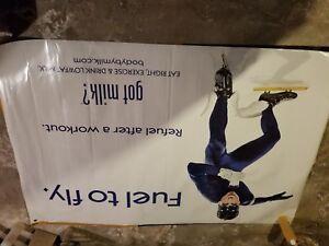 2009 Got Milk Chris Paul Diana Taurasi Vinyl Banner 4 ft x 6 ft Dynamilk Duo