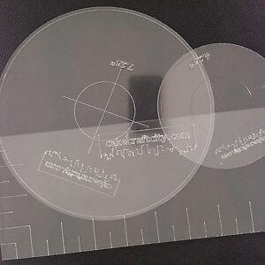 Round Square Ganaching Plate Acrylic Ganache Board Disc