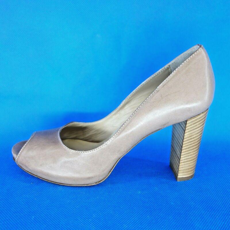 Modestil Pair Damen Pumps Peeptoes Schuhe Gipsy Or20 Leder Braun 36,5 38 39,5 Np 259 Neu