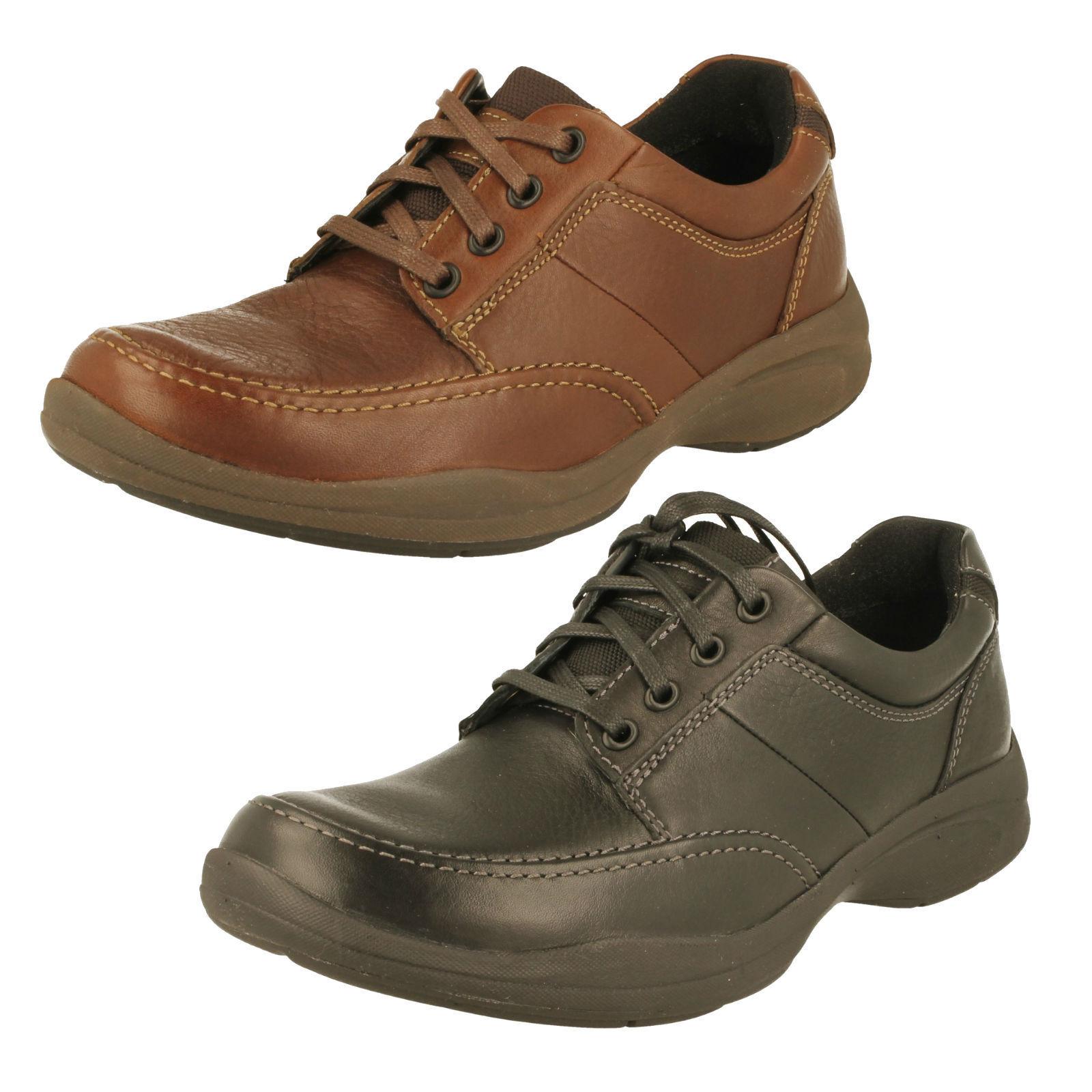 Men's Clarks Casual Lace Up Shoes - Wavekorey Mix G Fit