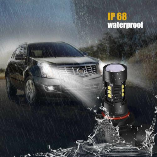 2x 9140 9145 H10 9045 100W LED Fog Lights Bulbs 6000K White For Ford F-150 F-250