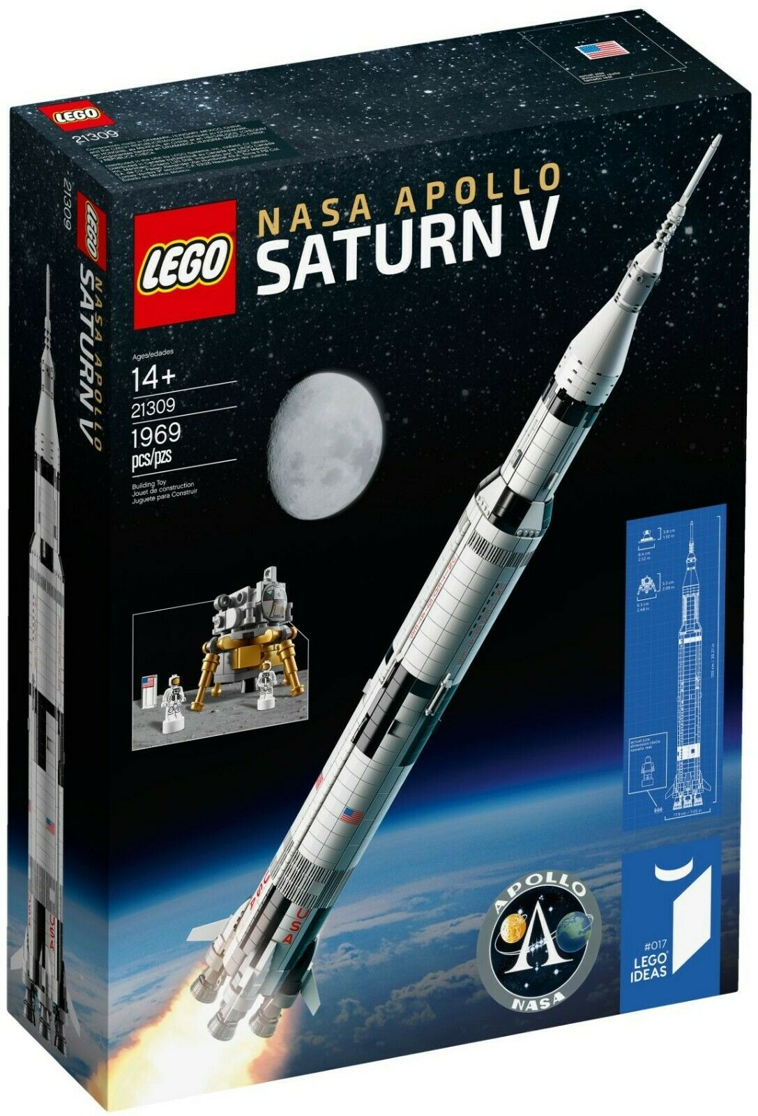 LEGO 21309 - Ideas - NASA Apollo Saturn V (Mondlandung Rakete USA Weltall)