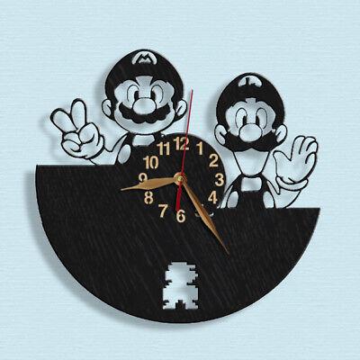 Ehrlich Super Mario Und Luigi Wand Hölzerne Uhr Wand Dekor 30cm #3