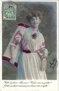 CPA-Photo-Seduction-Femme-1907