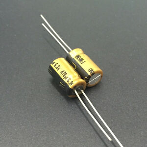 10pcs 470uf 6.3v Radial Electrolytic Capacitor 6.3v470uf Panasonic JAPAN
