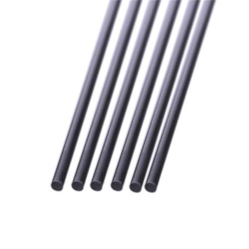 10pcs 0.8 mm Diamètre 500 mm longueur en Fibre de Carbone Tiges Matte Surface
